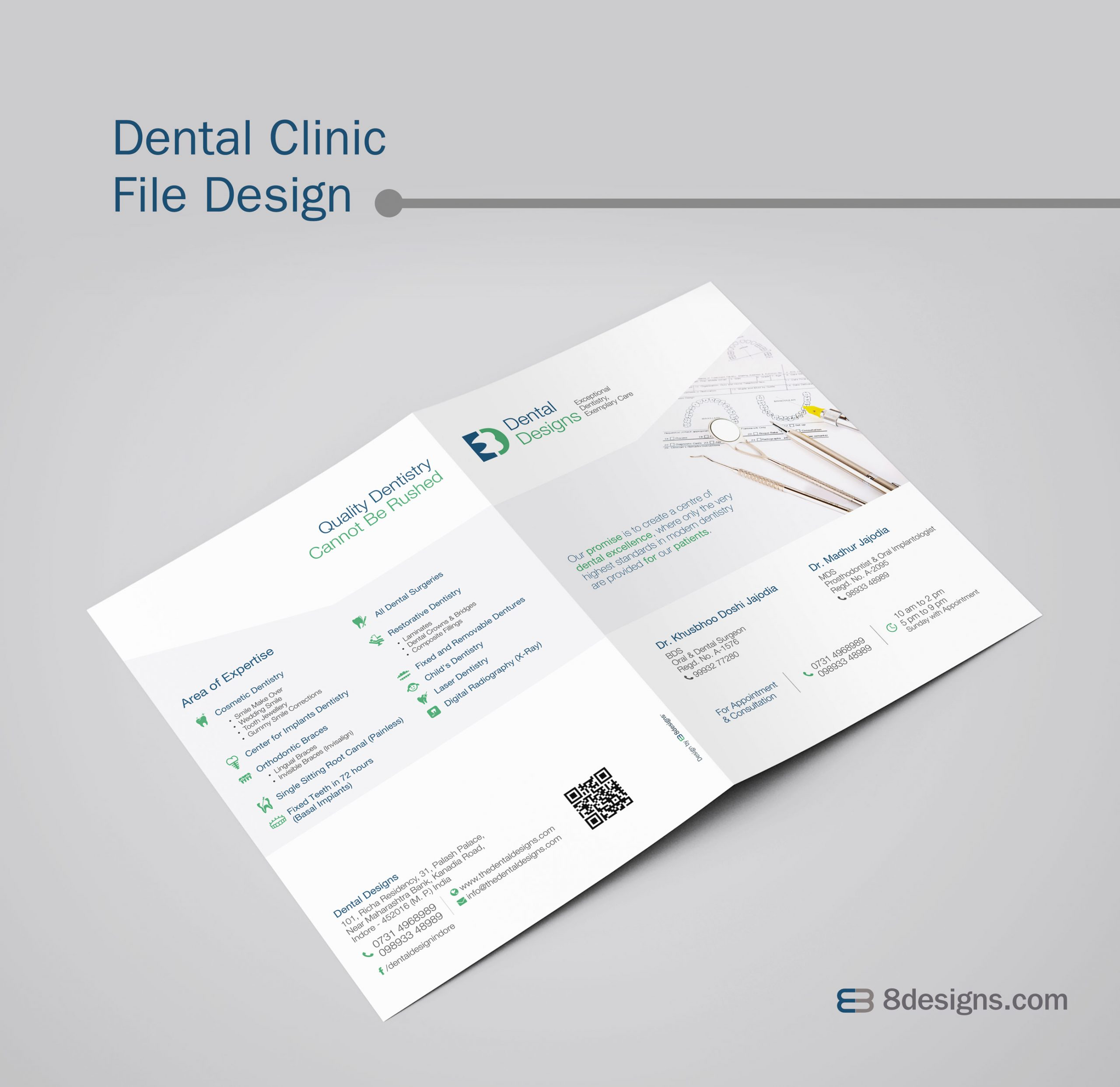 Clinic File Design, Dental Clinic File Design